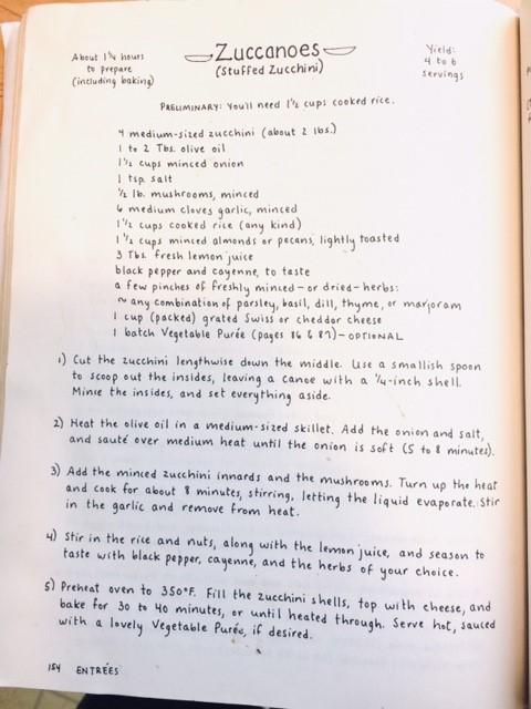 Zuccanoes Recipe